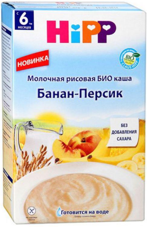 Hipp каша молочная рисовая с персиком и бананом БИО, с 6 месяцев, 250 г  #1