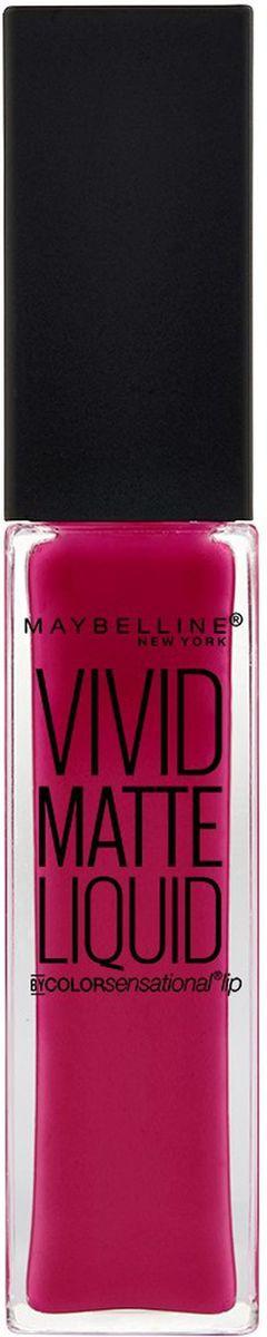 """Maybelline New York Жидкая Матовая Губная Помада """"Vivid Matte"""", оттенок 40, Ягодная вспышка, 7,7 мл  #1"""