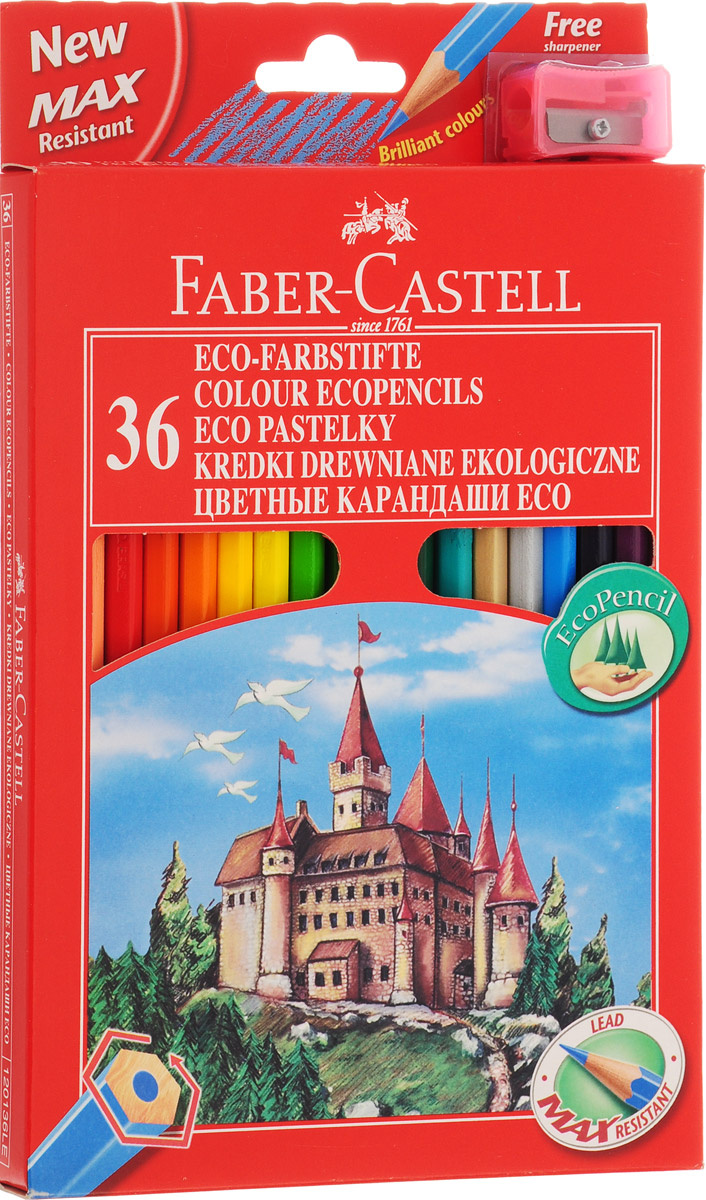 Набор цветных карандашей Faber-Castell Замок с точилкой 36 цветов  #1