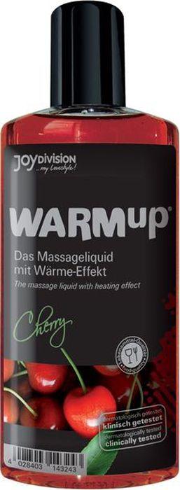 JoyDivision Разогревающий массажный гель, съедобный Warm Up, вишня, 150 мл  #1