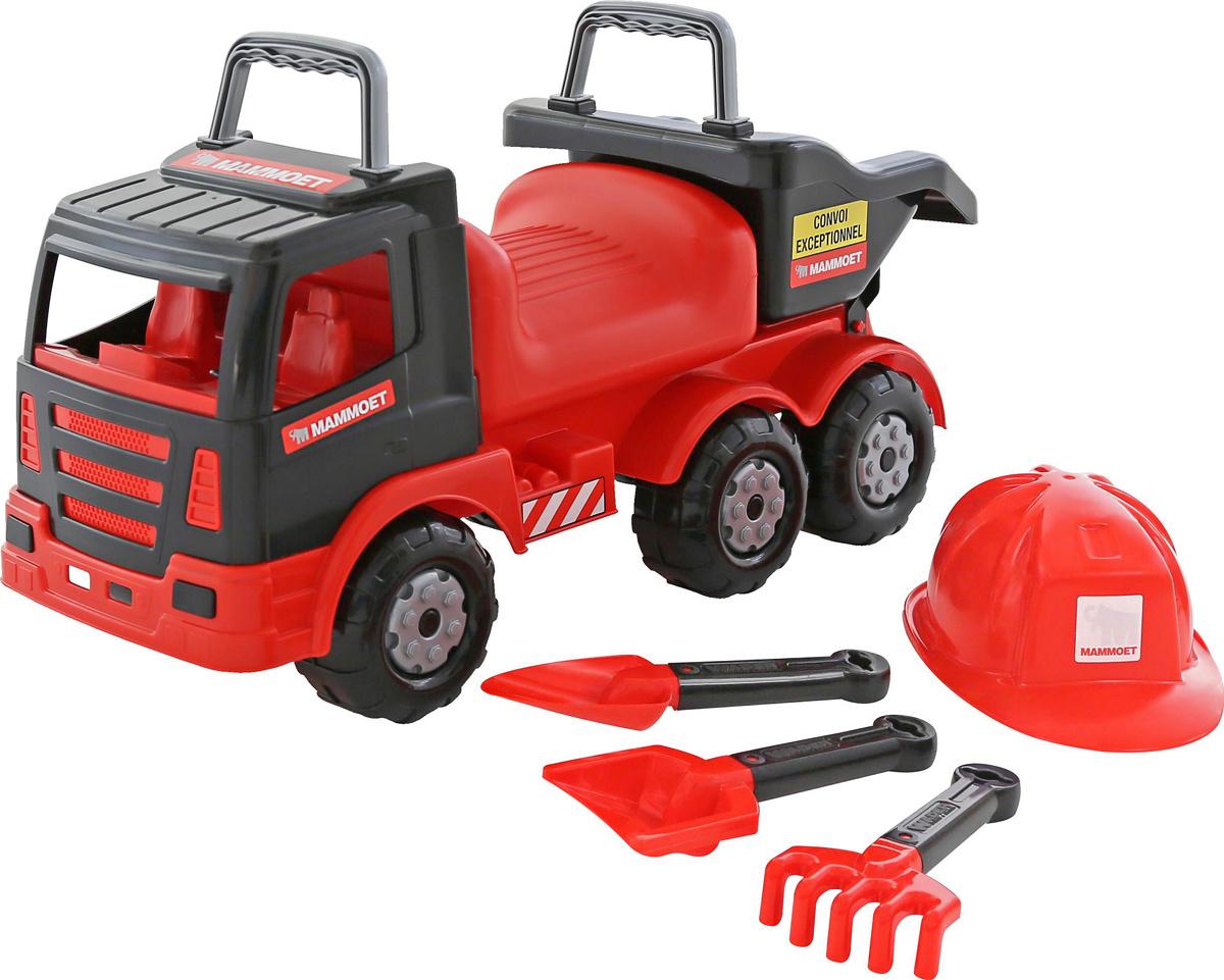 Полесье Автомобиль-каталка Mammoet 200-02 с набором игрушек для песочницы, цвет в ассортименте  #1
