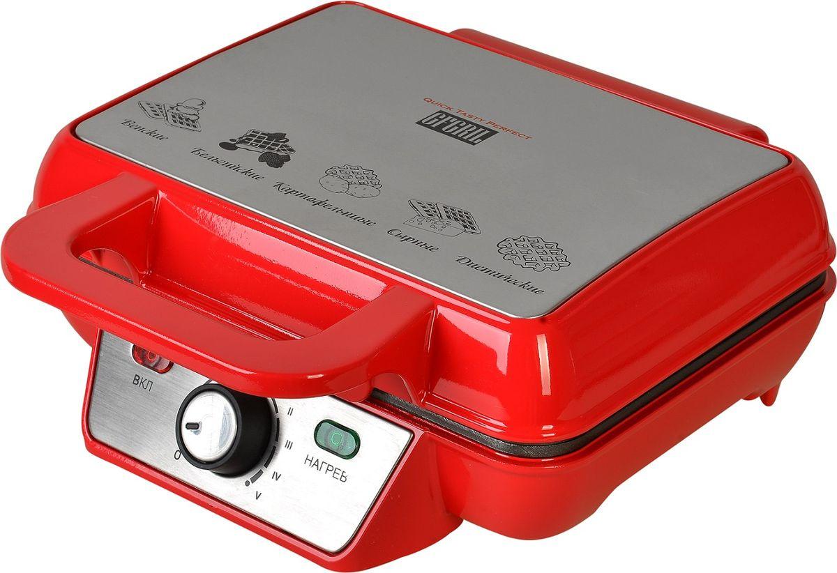 Вафельница GFgril GFW-015, красный #1