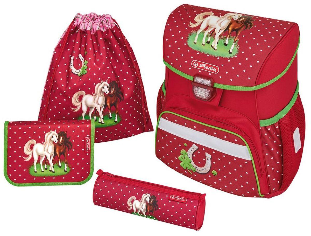 22af93bfa368 Herlitz Ранец школьный Loop Plus Horses с наполнением 3 предмета — купить в  интернет-магазине OZON.ru с быстрой доставкой