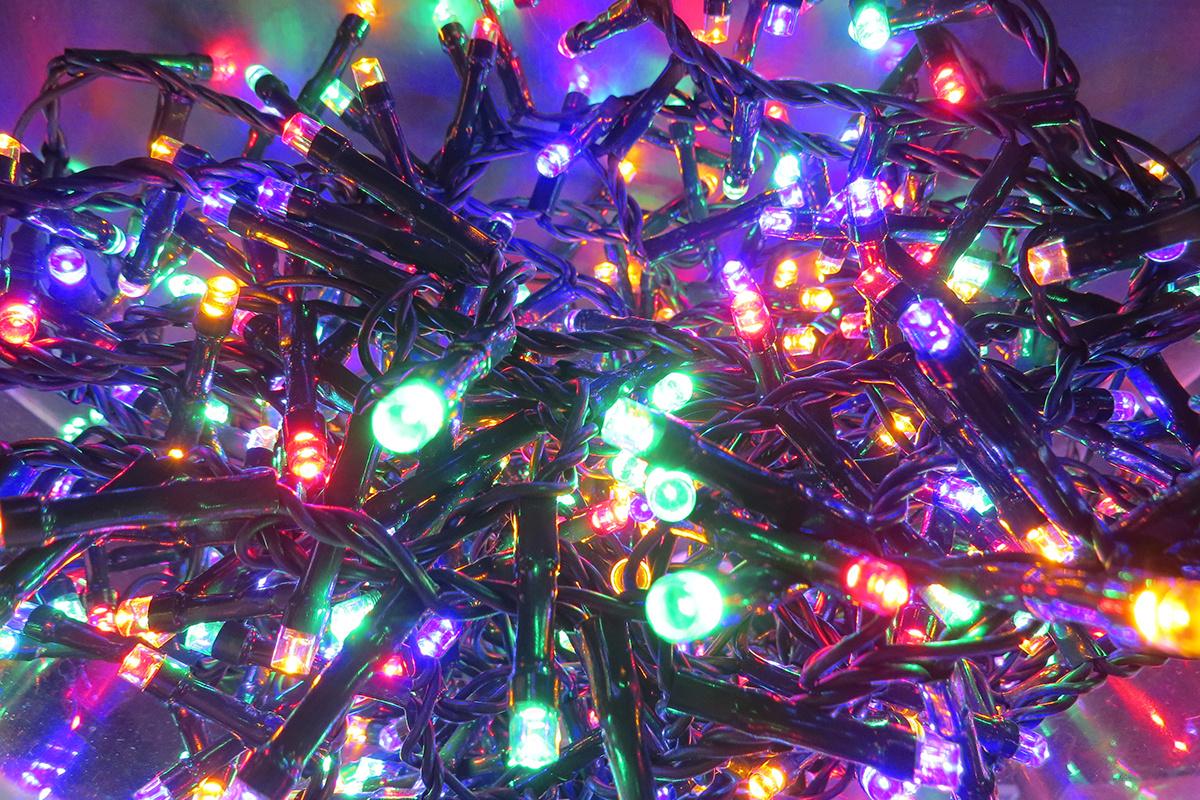 Электрогирлянда Нет Нить Triumph Tree Светодиодная 370 ламп, 7.4 м, питание От сети 220В  #1