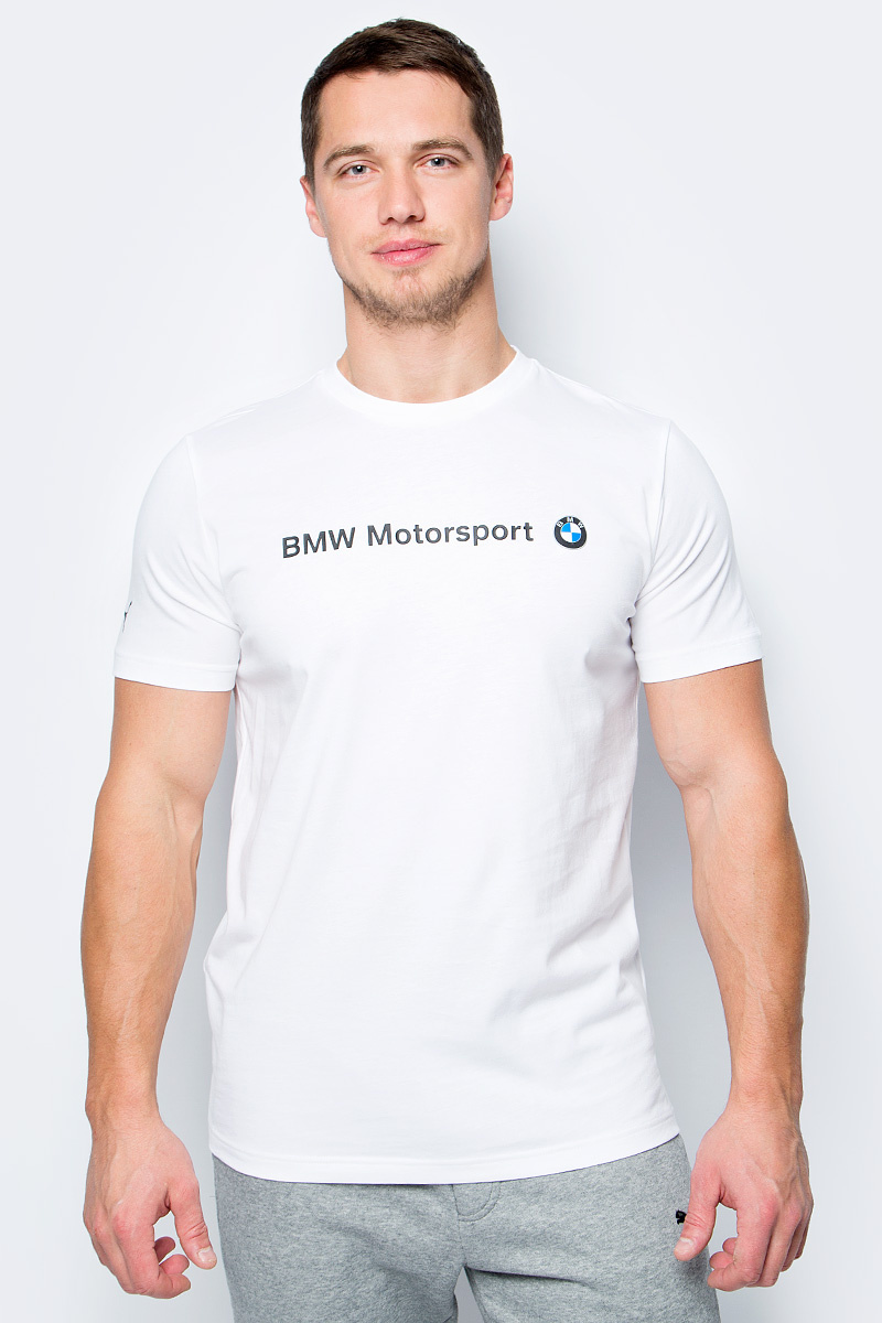 f21f81d8f9aedb Футболка PUMA Bmw Msp Logo Tee — купить в интернет-магазине OZON с быстрой  доставкой