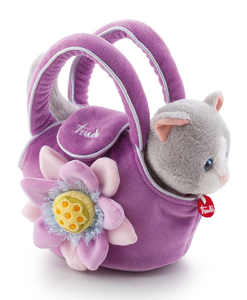 Trudi Мягкая игрушка Котенок в сумочке 15 см #1