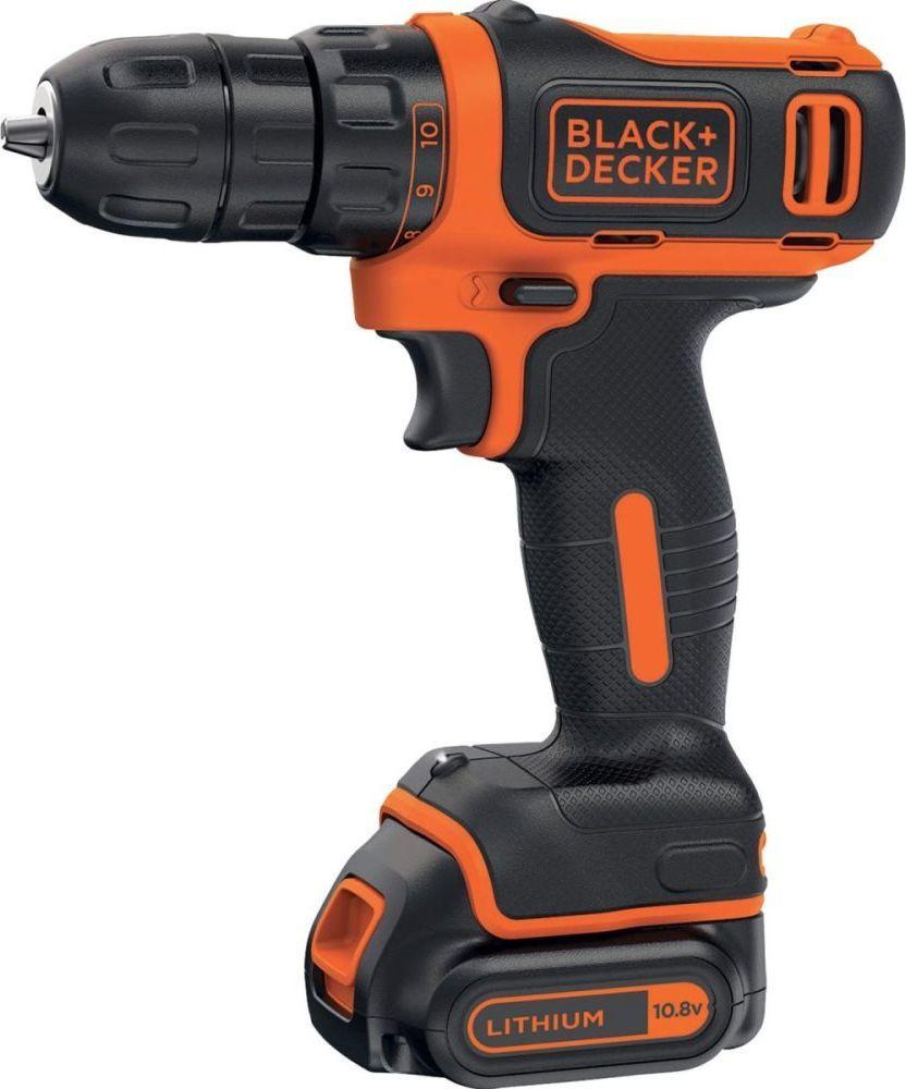 Дрель-шуруповерт Black+Decker BDCDD12, Сменный аккумулятор, 10.8 В, 26 Нм, 1 АКБ  #1