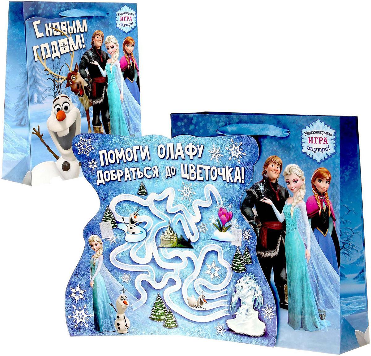 """Пакет подарочный Disney """"Холодное сердце. С Новым годом"""", с открыткой, 23 х 27 см  #1"""