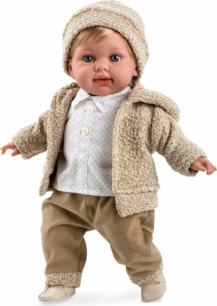 Arias Кукла Мальчик Elegance с соской цвет одежды бежевый #1