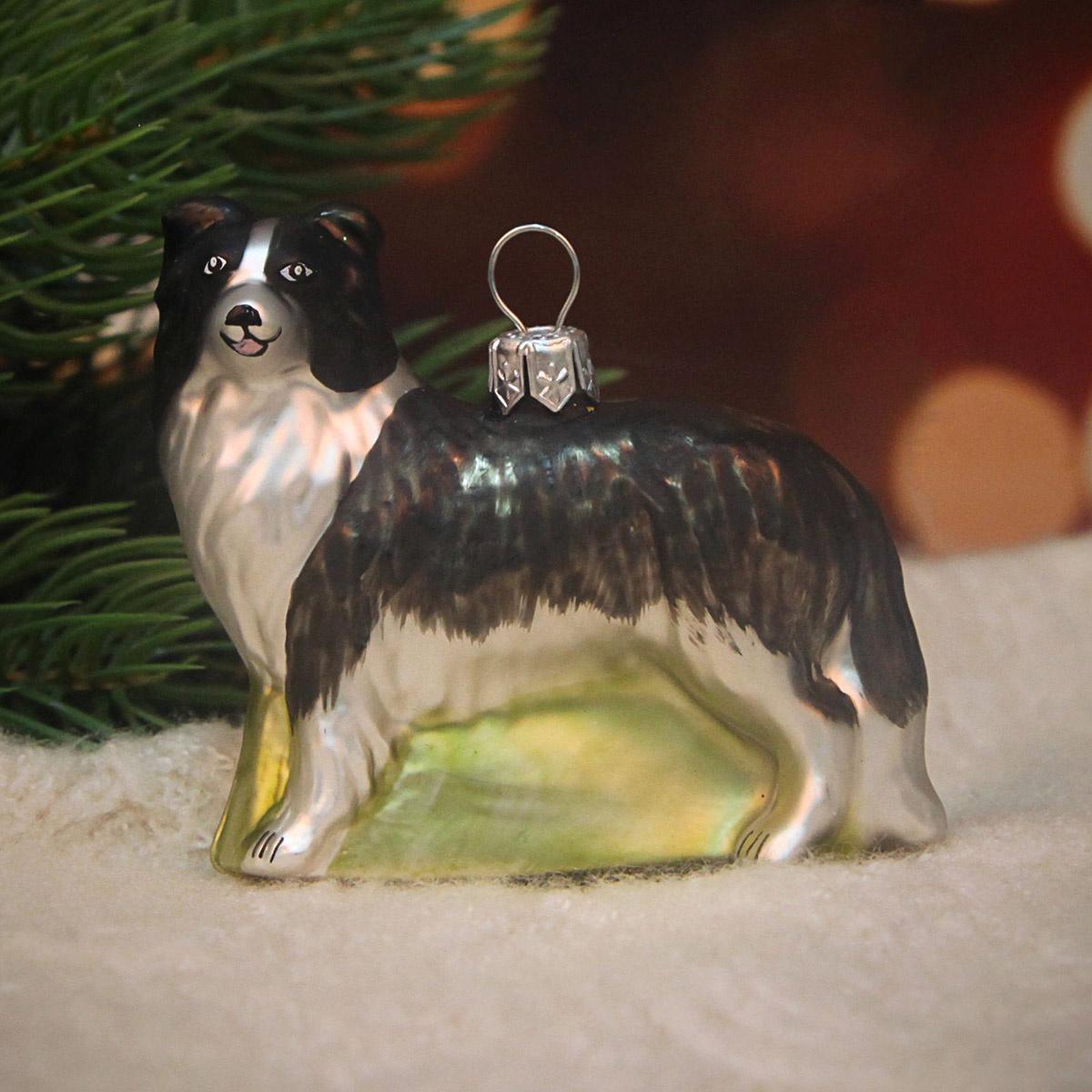 """Новогоднее подвесное украшение Hanco Design """"Собака-колли"""", высота 7 см  #1"""