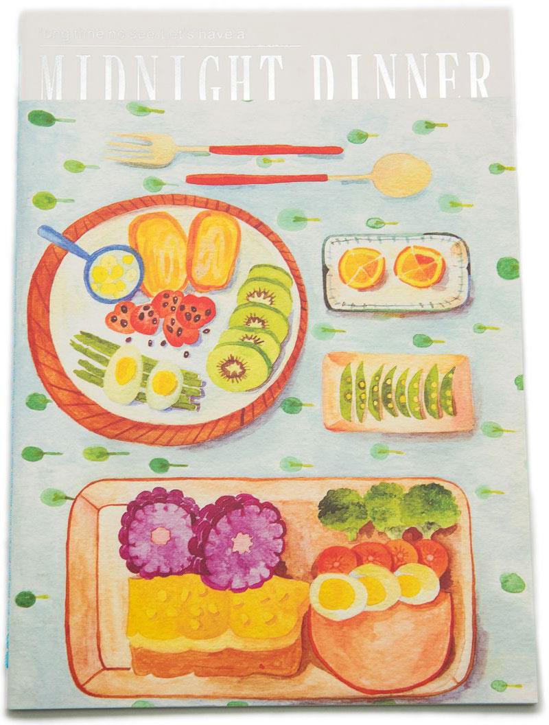 Еж-стайл Тетрадь Midnight Dinner 38 листов в линейку цвет голубой  #1