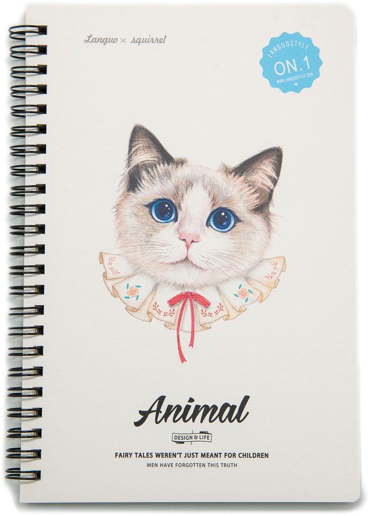 Еж-стайл Тетрадь Animal Cat 1 A5 68 листов в линейку #1