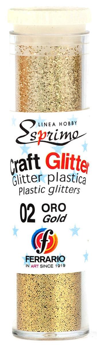 Ferrario Глиттеры Craft №02 цвет золото #1