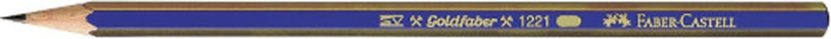 Карандаш Faber-Castell чернографитный Goldfaber 1221 2B #1