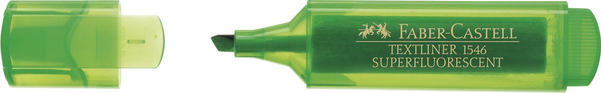 Faber-Castell Текстовыделитель 1546 флуоресцентный цвет зеленый  #1