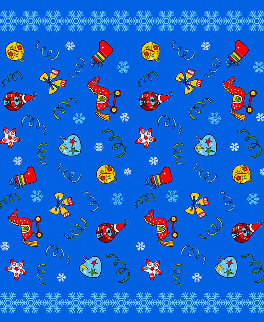"""Скатерть Мультидом Скатерть Мультидом """"Новогодние шары"""", 148 х 225 см Полиэстер, 150x225 см, синий  #1"""
