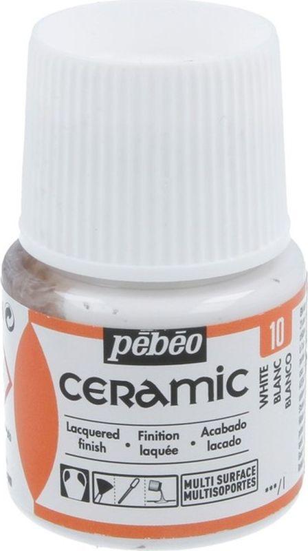 Pebeo Краска по керамике и металлу Ceramic цвет 10 белый 45 мл #1