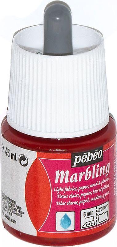 Pebeo Краска Marbling для техники Эбру цвет 130-003 бенгальский розовый 45 мл  #1
