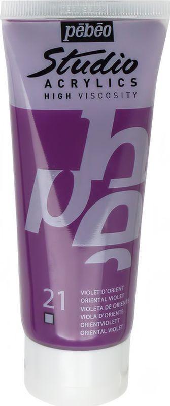 Pebeo Краска акриловая Studio Acrylics цвет 831-021 фиолетовый восточный 100 мл  #1