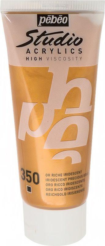 Pebeo Краска акриловая Studio Acrylics Dyna цвет 832-350 богатое золото иридисцентное 100 мл  #1