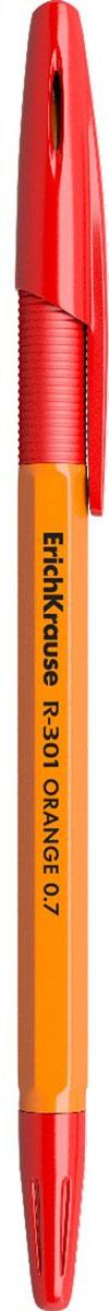 Erich Krause Ручка шариковая R-301 Orange 0.7 Stick&Grip красная 43189 #1