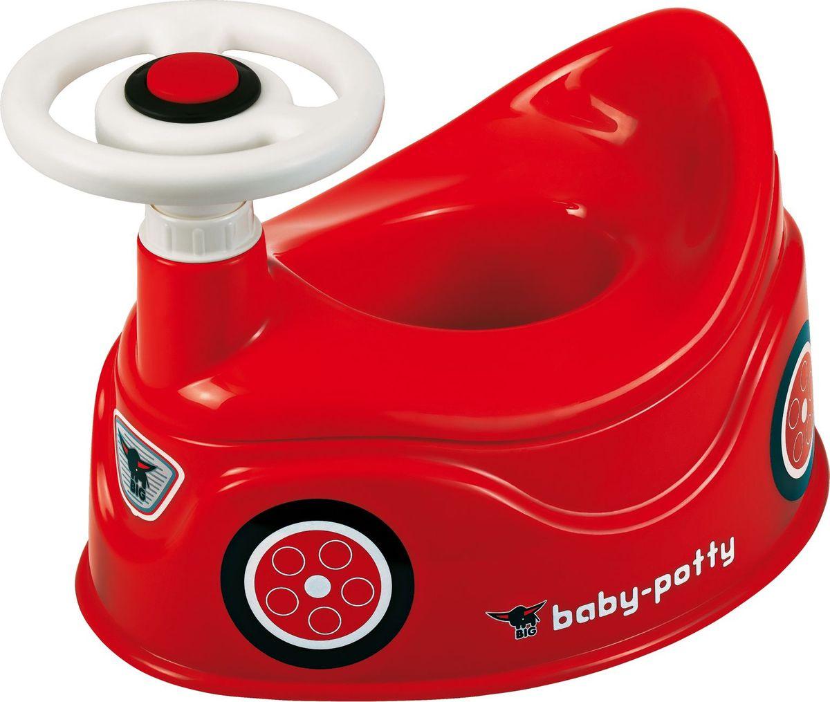 Детский анатомический туалетный горшок с рулём и сигналом, BIG, 56801  #1