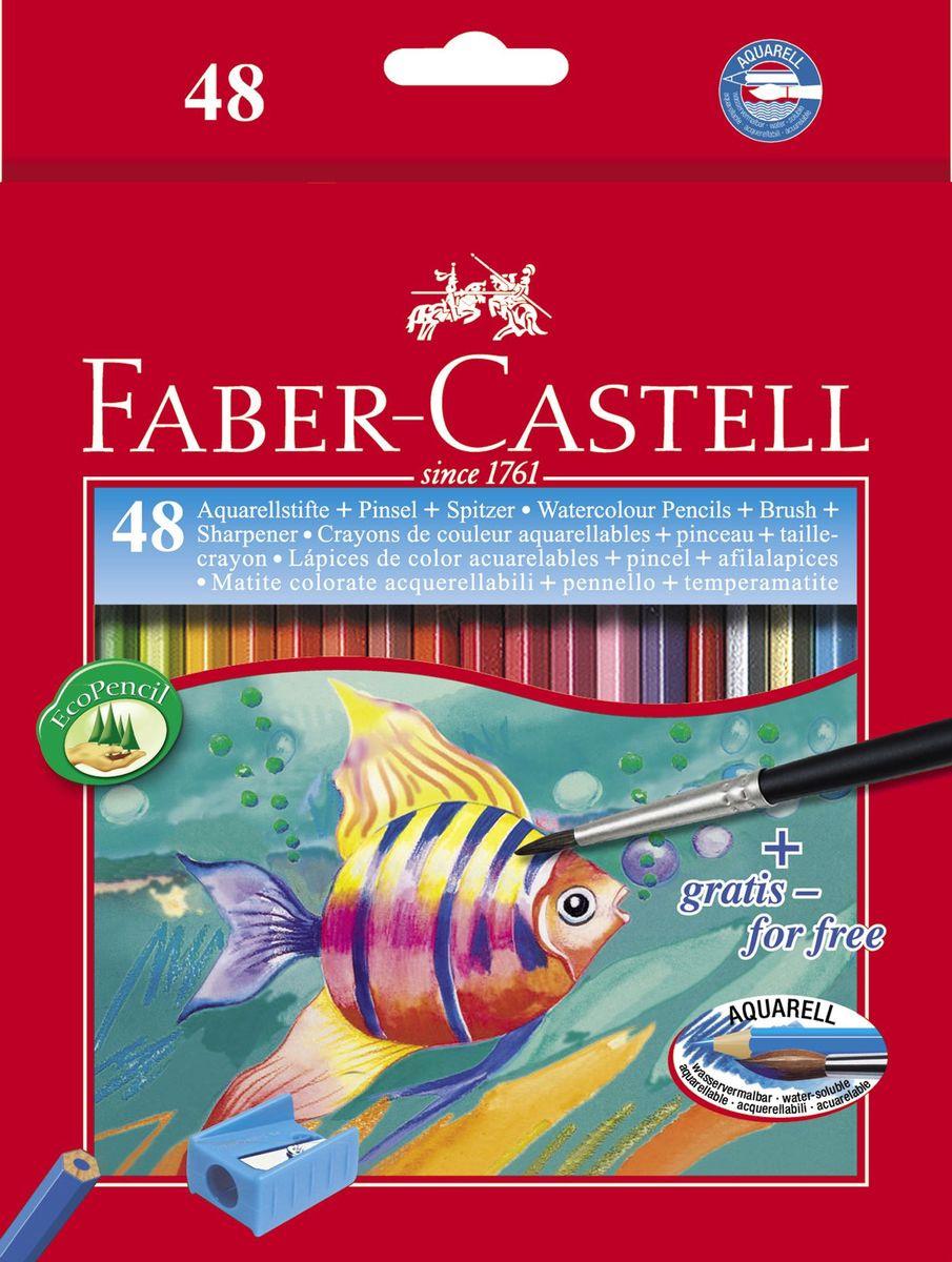 Faber-Castell Акварельные карандаши Рыбкис кисточкой 48 шт #1