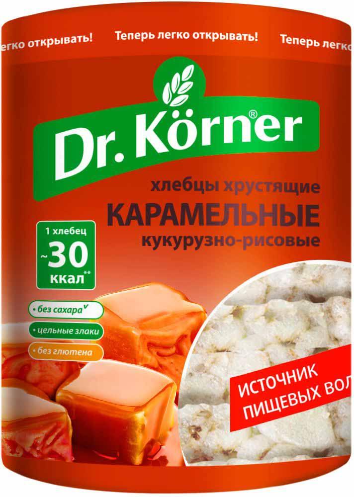 Dr. Korner Хлебцы карамельные кукурузно-рисовые, 90 г #1