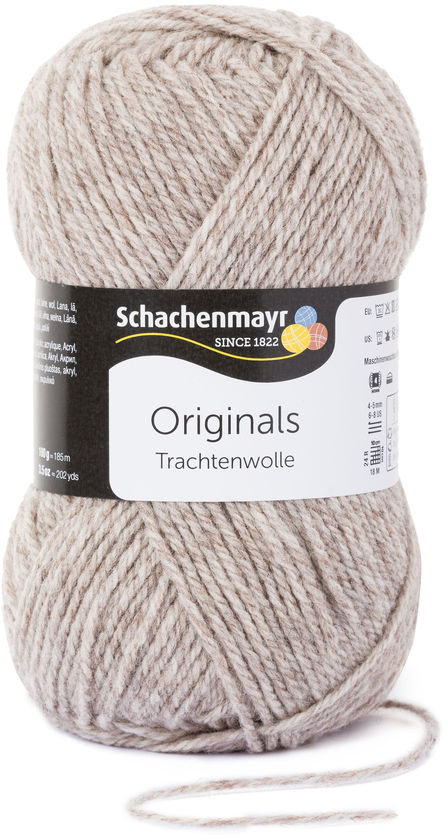 """Пряжа для вязания Schachenmayr """"Originals Trachtenwolle"""", цвет: светло-коричневый (00011), 185 м, 100 #1"""
