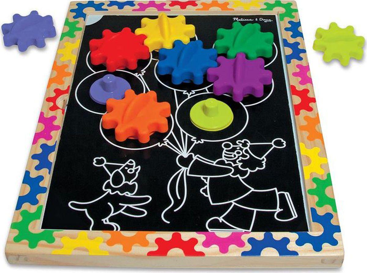 Melissa & Doug Обучающая игра Разноцветные колесики #1