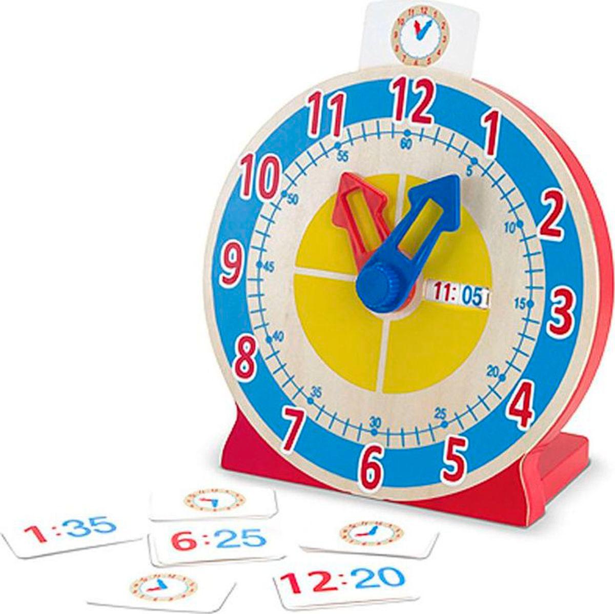 Melissa & Doug Обучающая игра Часы с карточками-заданиями #1
