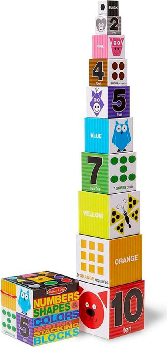 Melissa & Doug Обучающая игра Цифры формы и цвета блоки #1