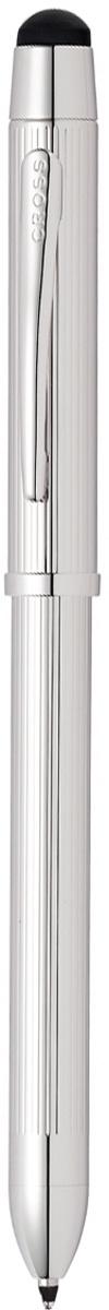 Многофункциональная ручка Cross Tech3+, цвет чернил: черный, красный, цвет корпуса: платиновый  #1