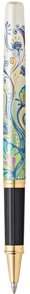 Ручка-роллер Cross Selectip Botanica Зеленая лилия, цвет чернил: черный  #1
