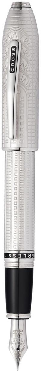 Ручка перьевая Cross Peerless Citizen LE New York, цвет чернил: черный, цвет корпуса: матовый платиновый, #1