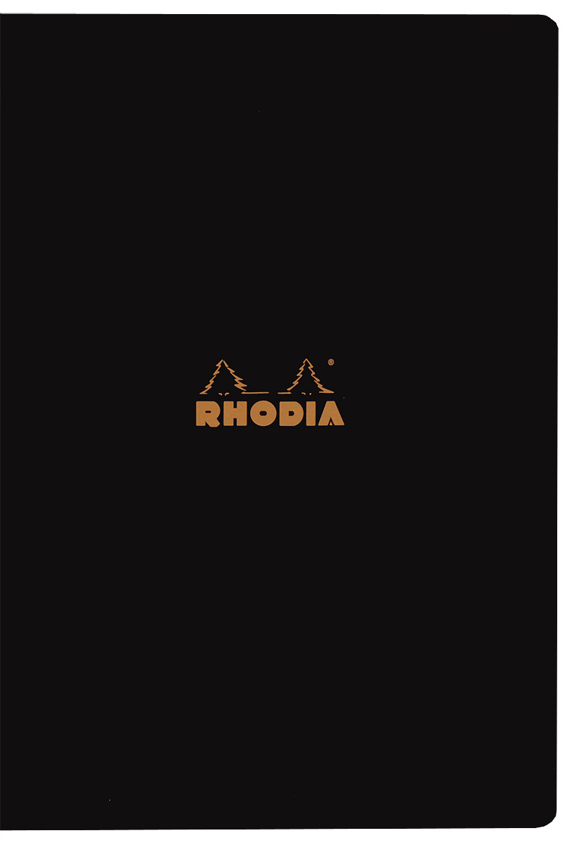 """Тетрадь Clairefontaine """"Rhodia"""", в линейку, формат A4, цвет обложки: черный, 48 листов  #1"""