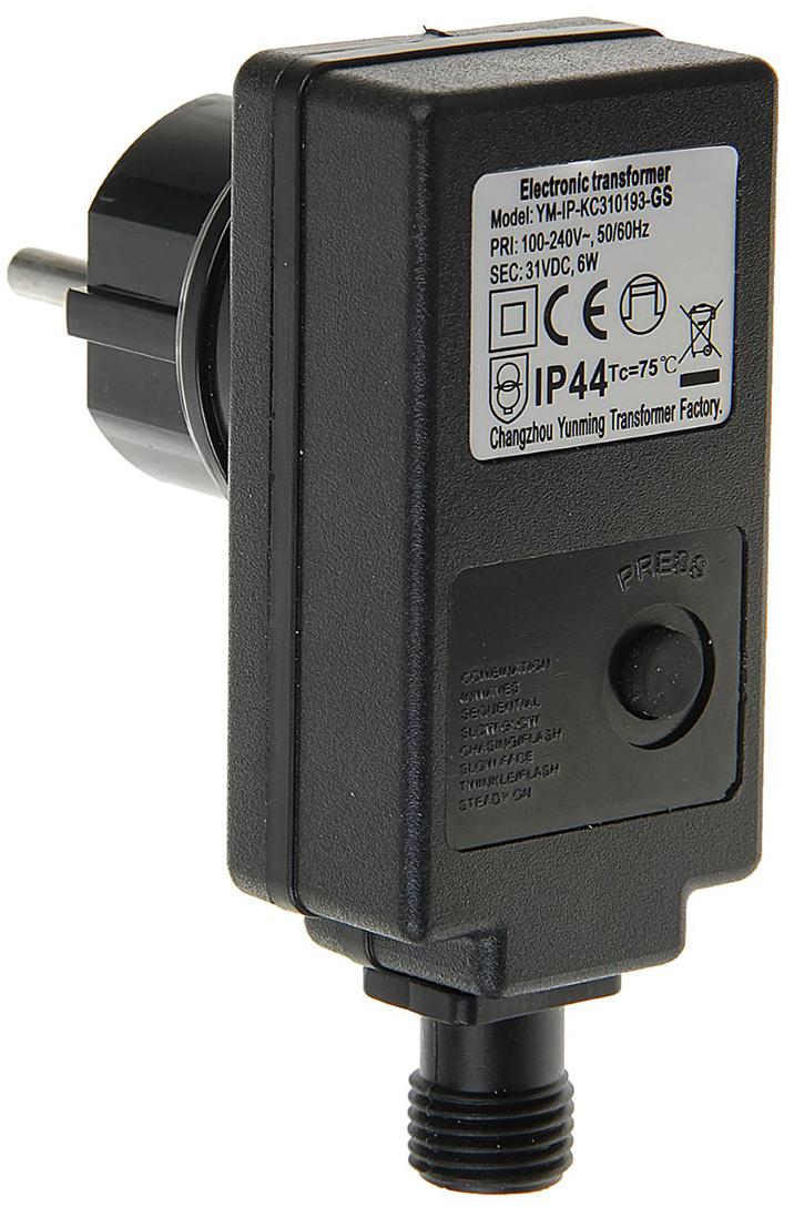 """Трансформатор комнатный для гирлянд """"Luazon Lighting"""", 220/24 В, 6 Вт, нить темная, 2W, черный  #1"""