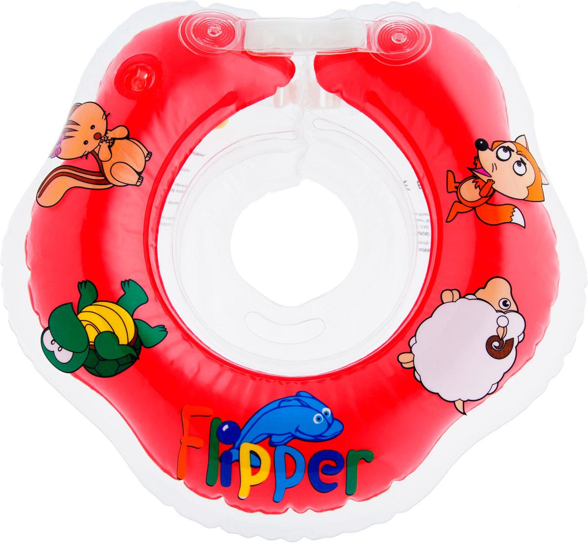 Roxy-kids Круг на шею для купания Flipper цвет красный #1