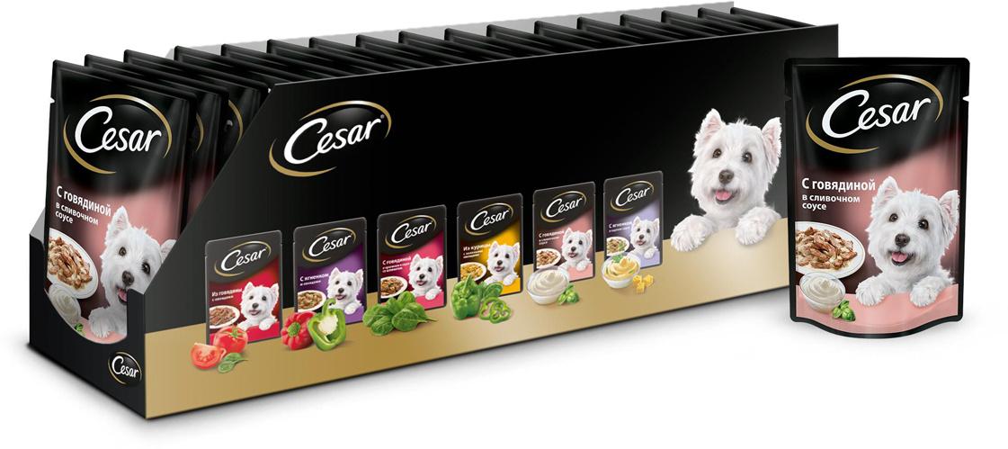 """Консервы для собак """"Cesar"""", говядина в сливочном соусе, 100 г, 24 шт  #1"""