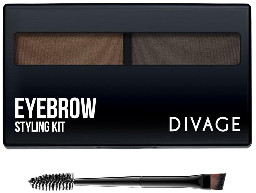 """DIVAGE Набор для моделирования бровей """"EYEBROW styling kit"""", тон № 02  #1"""