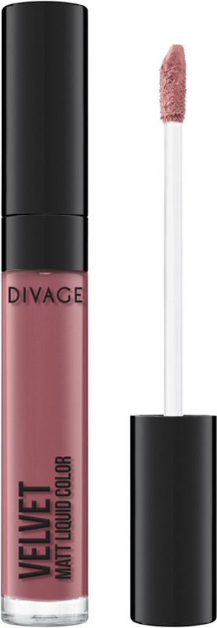 Divage Губная помада жидкая, матовая Liquid Matte Lipstick Velvet, тон 03  #1