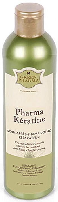 """Кондиционер-ополаскиватель Greenpharma """"Pharma Keratine"""" восстанавливающий, с растительным кератином #1"""