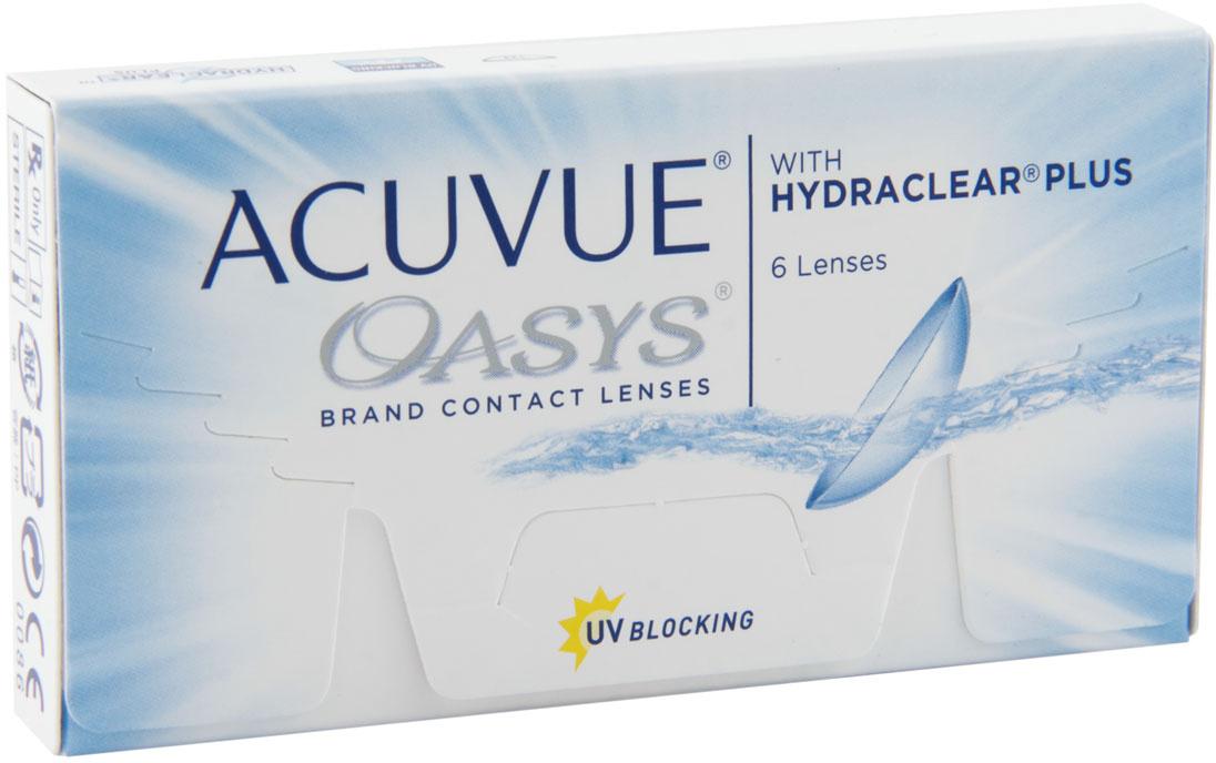 Контактные линзы ACUVUE Acuvue Oasys Двухнедельные, -2.50 / 14 / 8.8, 6 шт.  #1