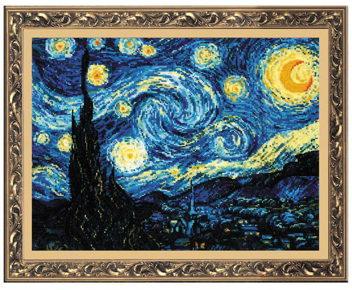 """Набор для вышивания""""Звездная ночь"""", 40 см х 30 см #1"""