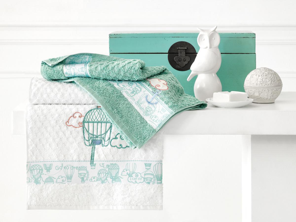 Полотенце детское Togas хлопковое Воздушные сны, 100% чесаный хлопок Хлопок, 70x130 см, белый  #1