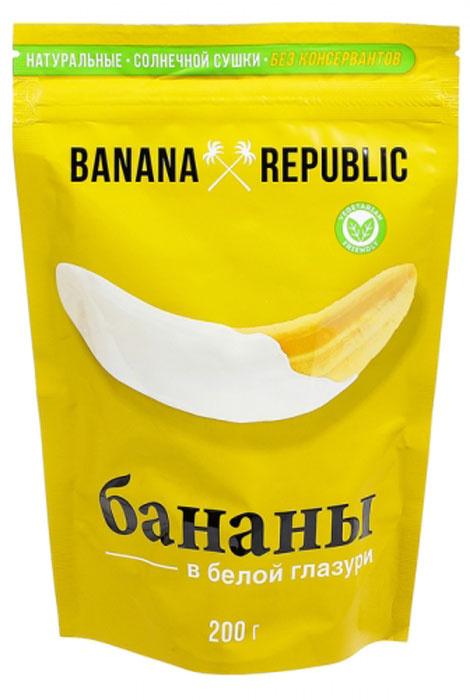 Banana Republic Банан сушеный в белой глазури, 200 г #1
