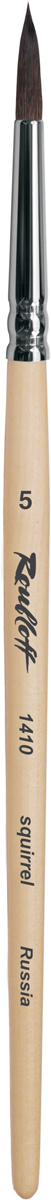 Roubloff Кисть 1410 белка круглая № 0 короткая ручка #1