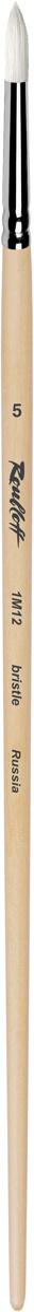 Roubloff Кисть 1M12 синтетика и щетина круглая № 8 длинная ручка  #1