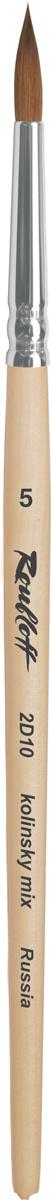 Roubloff Кисть 2D10 колонок круглая № 4 короткая ручка #1