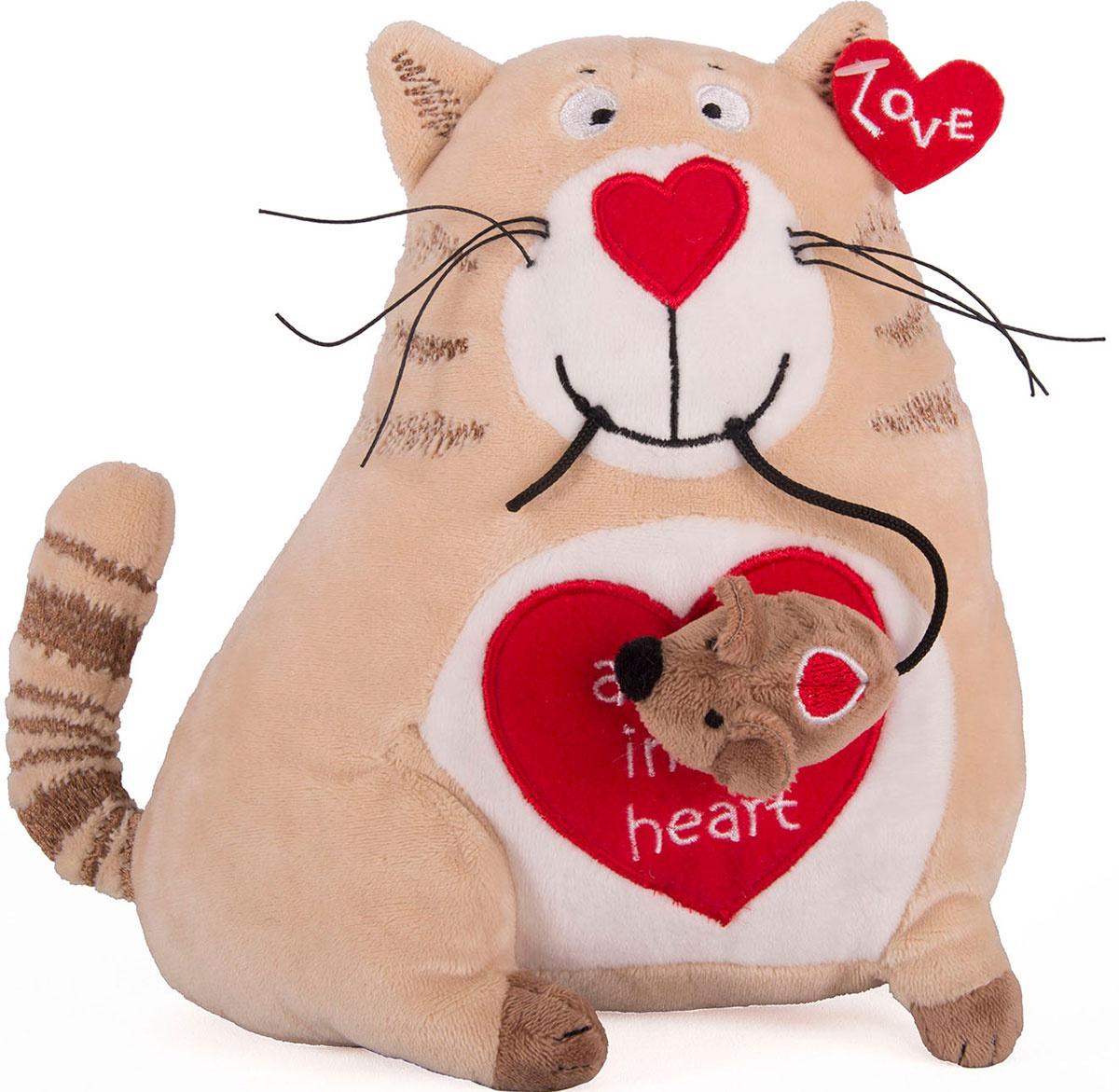 Gulliver Мягкая игрушка Кот и мышь Любовь с первого взгляда 20 см  #1